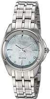 Citizen Women's 'Signature' Quartz Stainless Steel Dress Watch, Color:Silver-Toned (Model: EM0350-58D)