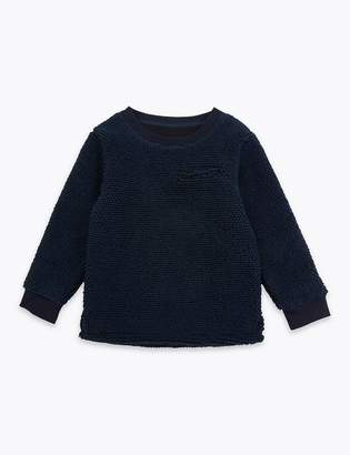 Marks and Spencer Textured Pocket Sweatshirt (3 Months - 7 Years)
