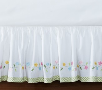 Pottery Barn Kids Daisy Garden Crib Skirt