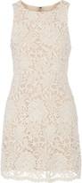 Alice + Olivia Jolie guipure lace mini dress