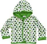 Carrolls Irish Gifts Baby Jacket With Green Shamrock Design