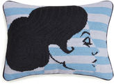 Jonathan Adler Big Hair Chignon Needlepoint Throw Pillow