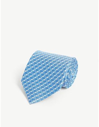 Salvatore Ferragamo Fish pattern silk tie