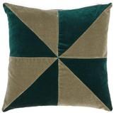 Christina Lundsteen - Suki Patterned Cotton-velvet Cushion - Green Multi