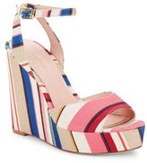 Kate Spade Dellie Textile Platform Wedge Sandals