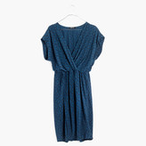 Madewell Wrap-Front Mini Dress in Brushstroke Diamond