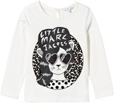 Little Marc Jacobs White Cat Graphic Tee
