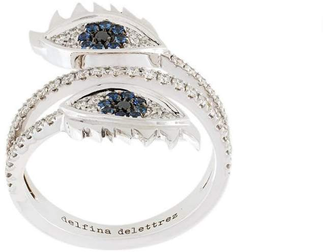Delfina Delettrez embellished eyes ring
