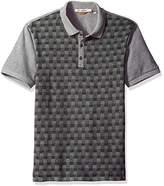 Ben Sherman Men's Pattern Block Polo Shirt
