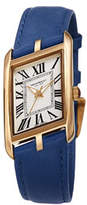 Bruno Magli Sofia Asymmetric Watch w/ Leather Strap, Cobalt Blue/Gold