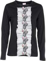 Giamba Ruffled Butterfly Sweatshirt