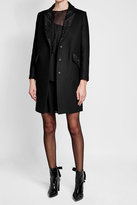 Tara Jarmon Virgin Wool Coat with Bead Embellishment