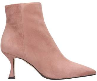The Seller High Heels Ankle Boots In Rose-pink Suede