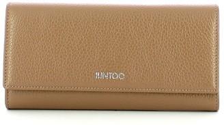 Iuntoo Beige Leather Bifold Large Armonia Women's Wallet