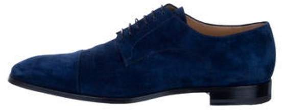 Suede Derby Shoes Navy Suede Derby Shoes