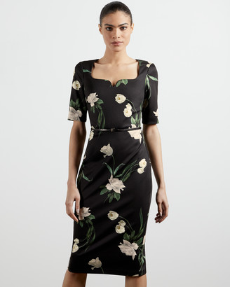 Ted Baker MAGIEYY Elderflower fitted dress