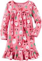 Carter's Fleece Nightgown (Toddler/Kid) - Print - 2/3