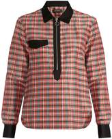 Isabel Marant Molan contrast-collar checked shirt