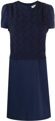 Kenzo Layered Short-Sleeved Dress