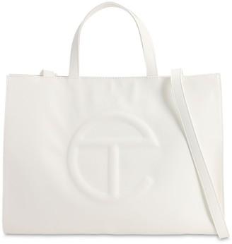 Telfar Medium Embossed Logo Shopper Tote Bag