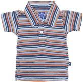 Kickee Pants Print Polo (Baby) - Campout Stripe-Preemie