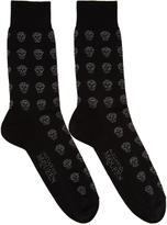 Alexander McQueen Black Metallic Skull Socks