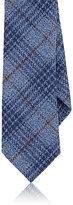 Barneys New York Men's Plaid Wool Necktie-LIGHT BLUE