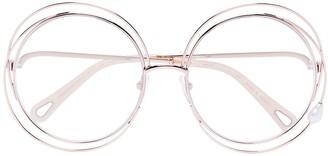 Chloé Carlina Pearl round-frame glasses