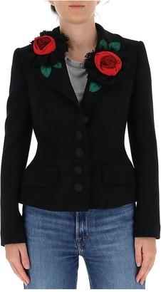 Dolce & Gabbana Rose Embellished Blazer