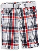 GUESS Alec Plaid Shorts (4-16)