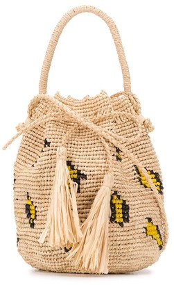 Alanui Tassel-Detail Straw Mini Bag