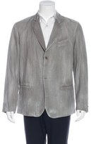 Avant Toi Lightweight Striped Blazer