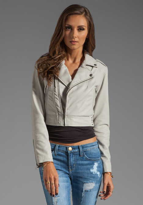 Joie Dolores B Paper Leather Jacket