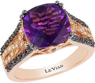 LeVian Le Vian 14K Rose Gold 3.61 Ct. Tw. Diamond & Amethyst Ring