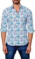 Jared Lang Paisley Print Trim Fit Shirt