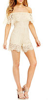 Rossmore Kaitlyn Lace Off-The-Shoulder Romper