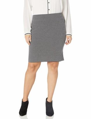 Chaps Women's Plus Size Straight Fit Pencil Skirt