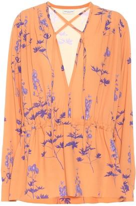 Dries Van Noten Floral crepe blouse