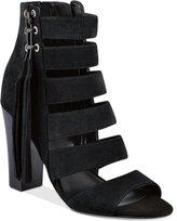 GUESS Women's Blasa Suede Block-Heel Sandals