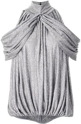 Maticevski metallic off-the-shoulder blouse