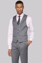 DKNY Slim Fit Grey Pindot Waistcoat