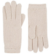 Barneys New York Women's Woven Cashmere Gloves-NUDE