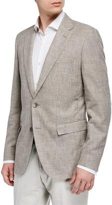 BOSS Men's Cotton-Blend Sport Coat w/ Elbow Patches, Tan