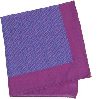 40 Colori Magenta Multi Zigzag Printed Cotton Pocket Square