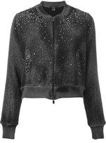 Avant Toi studded allover bomber jacket - women - Cotton/Linen/Flax/Polyamide/Aluminium - S