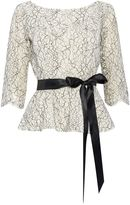 Eliza J 34 sleeve lace top with tie belt