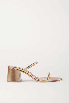 Gianvito Rossi 60 Metallic Leather Sandals - Gold