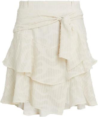 IRO Rakley Ruffled Mini Skirt