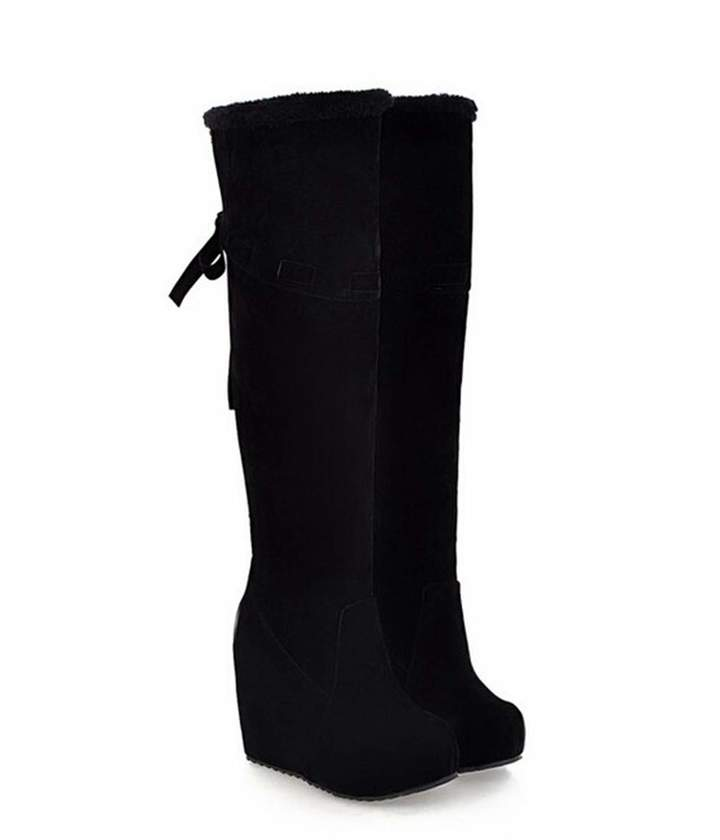 d9b365ec1be7f T-JULY Women's Winter with The New Korean Boots Female Winter Slope with  High Waterproof Boots