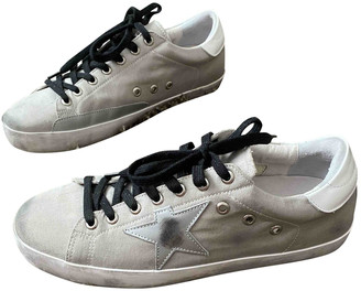 Golden Goose Superstar Grey Cloth Trainers
